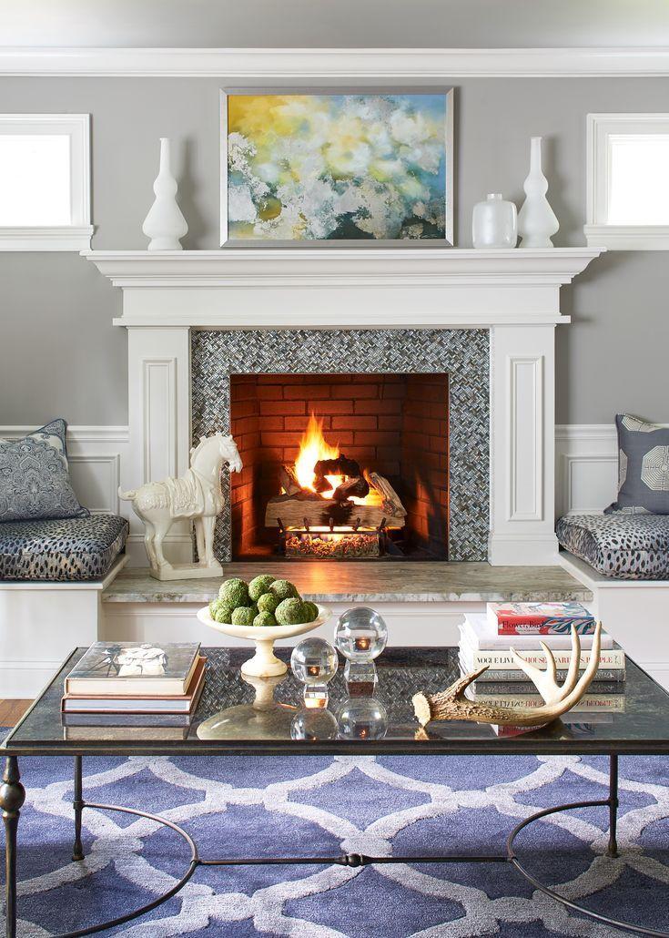 Bone Black Benjamin Moore : black, benjamin, moore, Christine, Kohut, Interiors:, PENWOOD, Fireplace, Mother, Pearl, Tile,…, Living, Decor, Inspiration,, Coastal, Decorating, Room,