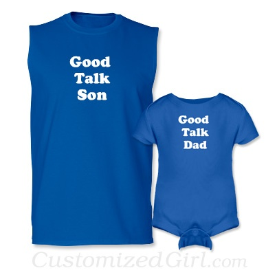 Matching Father and Son Onesies - Good Talk #fathersday #dad #fordad