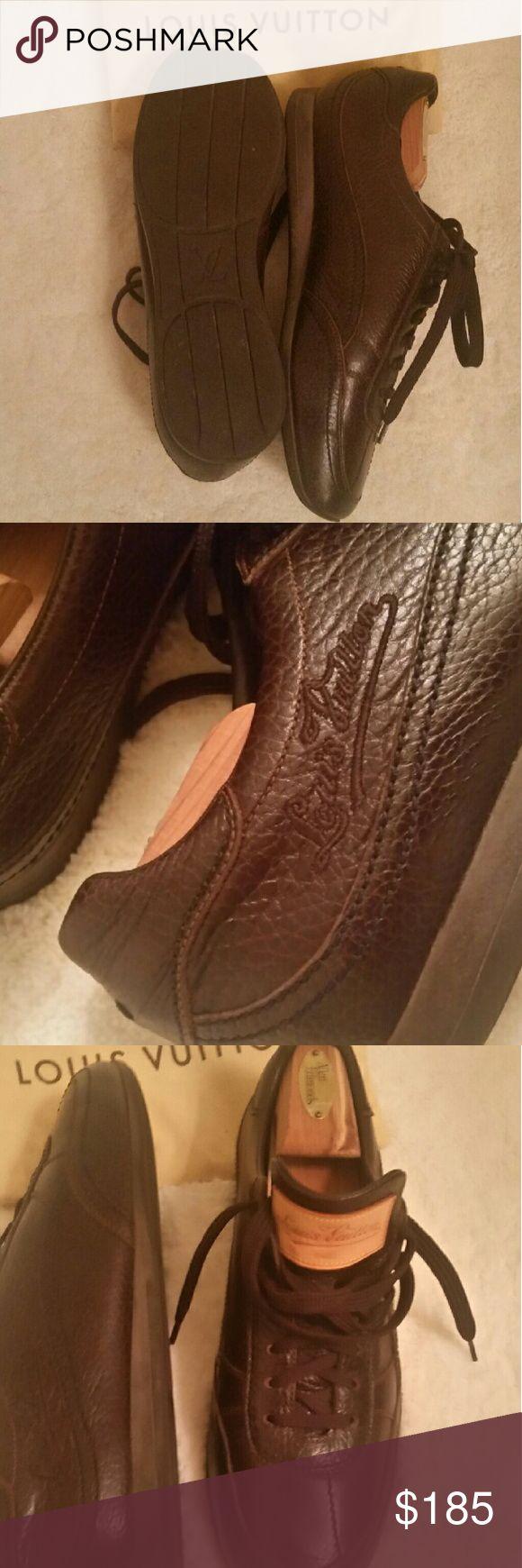 LOUIS VUITTON MEN SHOES *Authentic* Chocolate Louis Vuitton Shoes for men! Size 7, Like New! Louis Vuitton Shoes Sneakers