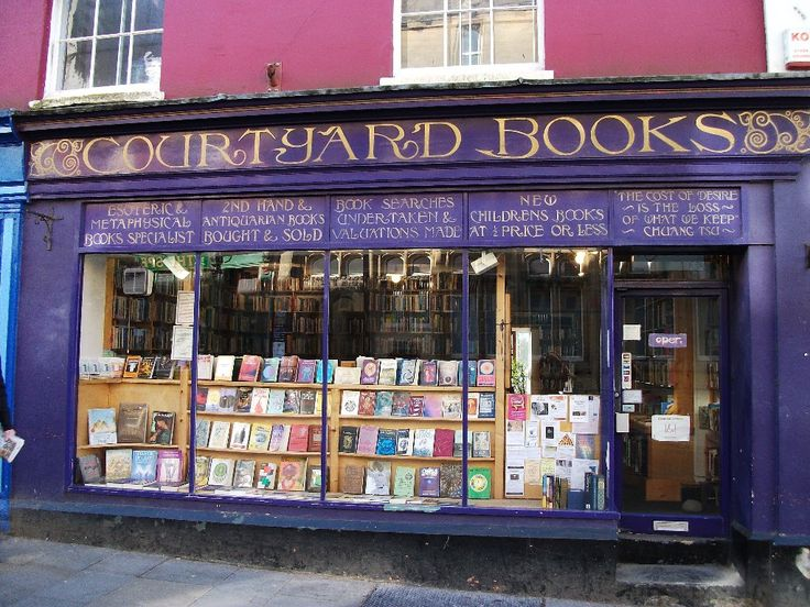 Courtyard Books, 2-4 High Street, Glastonbury, Somerset,  England. Specializing in rare books, out-of-print books, used books, secondhand books, and other hard-to-find books. We also exchange UK National Book Tokens. (P)