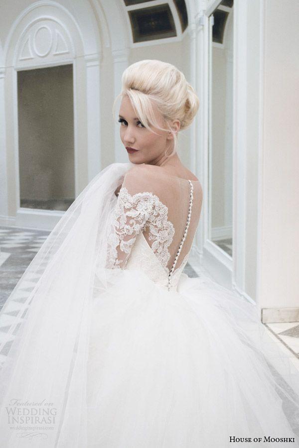 House of mooshki fall 2014 wedding dresses wedding dress for How to make a long tulle skirt for wedding dress