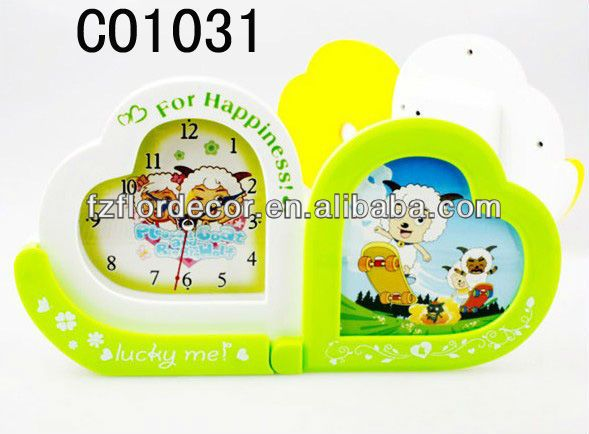 promotional alarm clock heart shape Clock novel desktop clock analogue alarm clock fashion cartoon table clock novel alarm clock