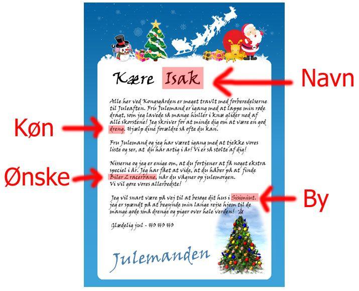 Brev fra Julemanden