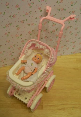 $32 on eBay: Barbie Baby Krissy w Layette Stroller w Sound Nursery House Accessories Mint | eBay