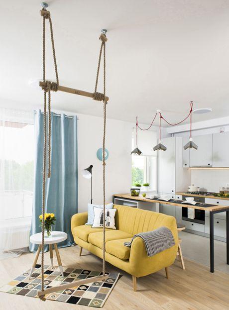Cât te costă să amenajezi creativ un apartament de 2 camere într o garsonieră de 37 mp