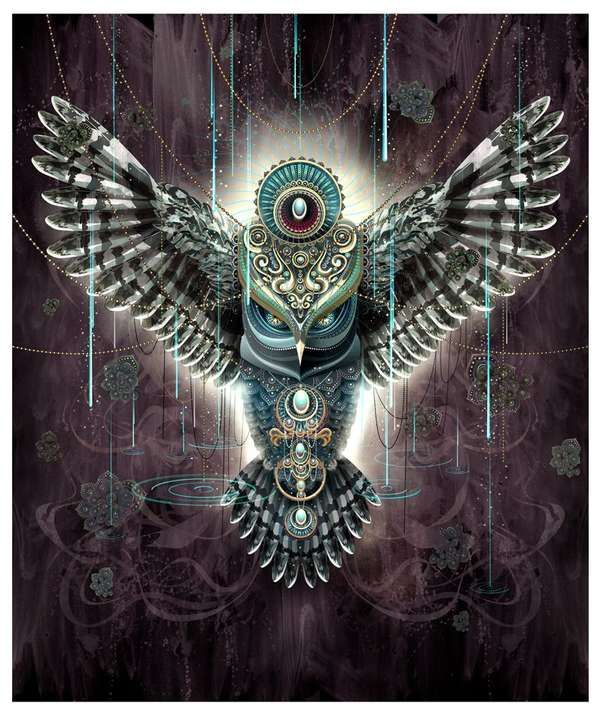 Trippy Feral Digital Art - Chris Saunder's Collection of Intricate Psychedelic Digital Art Pieces