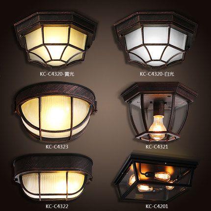 North American industrial wind Yang Lamp Retro household lamp study corridors wrought loft small ceiling lamps