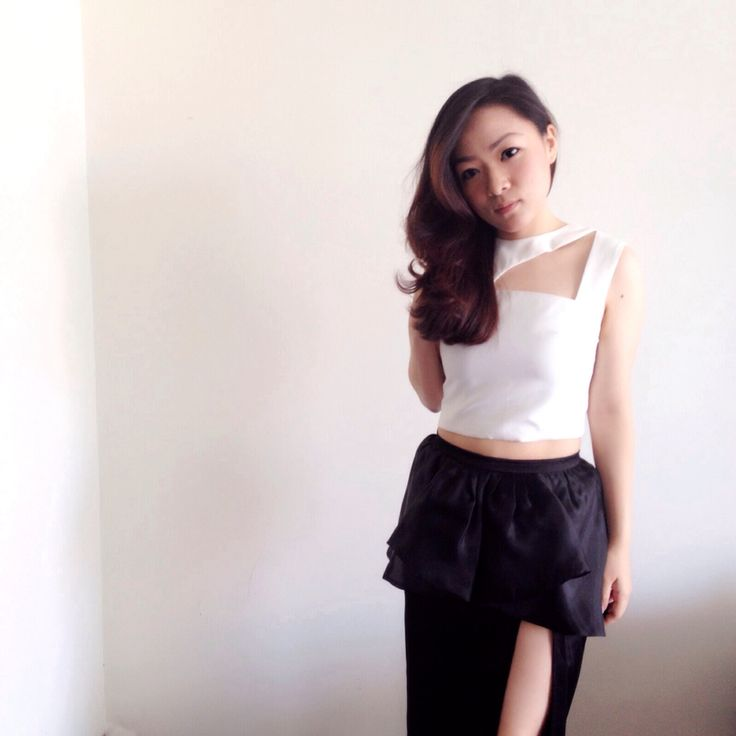 Black and white crop dress. Follow my instagram account @agnes_siauw