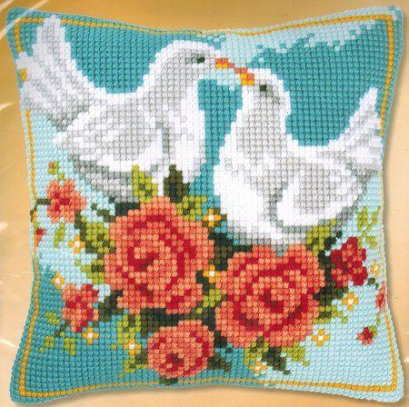Doves in Love - Needlepoint Kit