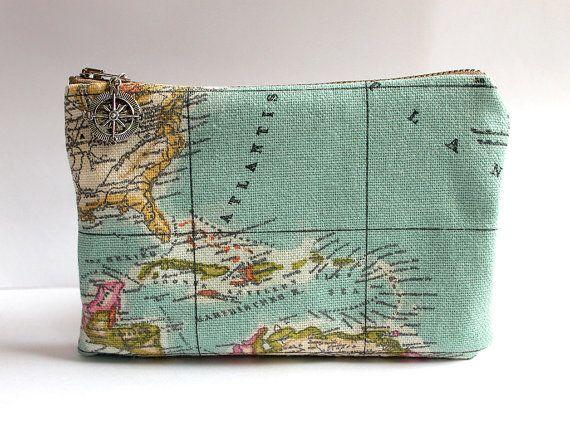 Alte Karte Toiletry Bag personalisierte Groomsmen Gift, kosmetische Reisetasche, nautische Hochzeit Bräutigam Geschenke für ihn, Kompass-Ziel