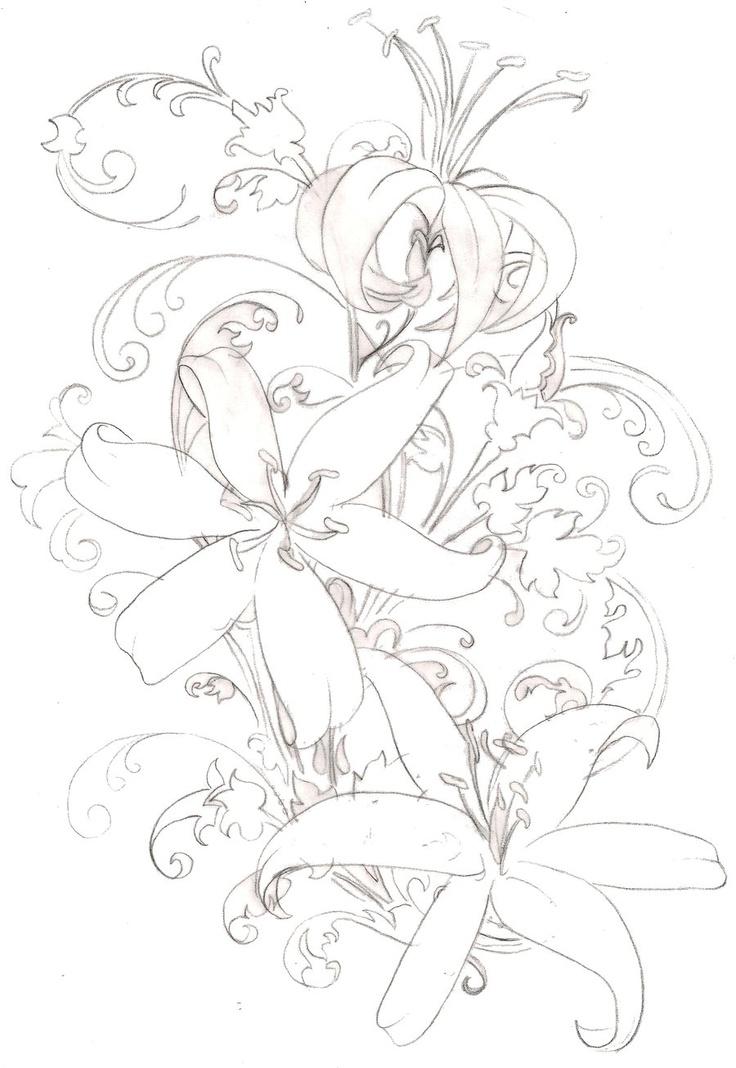 Tiger Lily Flower Tattoo 6 by ~Metacharis on deviantART ...