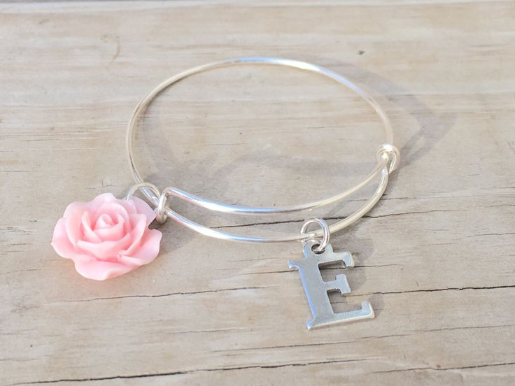 Flower girl bracelet gift  Personalized Bracelet| Kids Initial Bracelet| Adjustable Kids Bangle| Wedding Jewelry| Flower Girl Gifts by LaniDestiny on Etsy