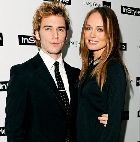 Sam Claflin, star of the upcoming Hunger Games, married actress Laura Haddock in a private ceremony earlier this month. See the adorable things he said after he met her for the first time!