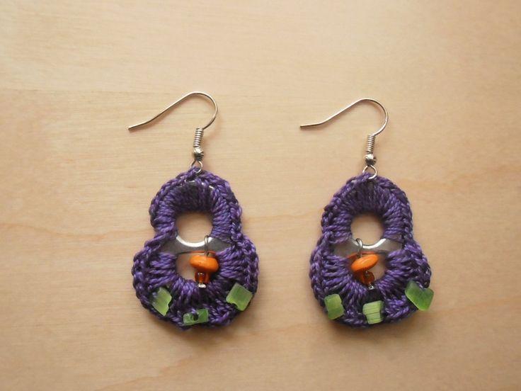 Pop tab earrings by ntintimania on Etsy