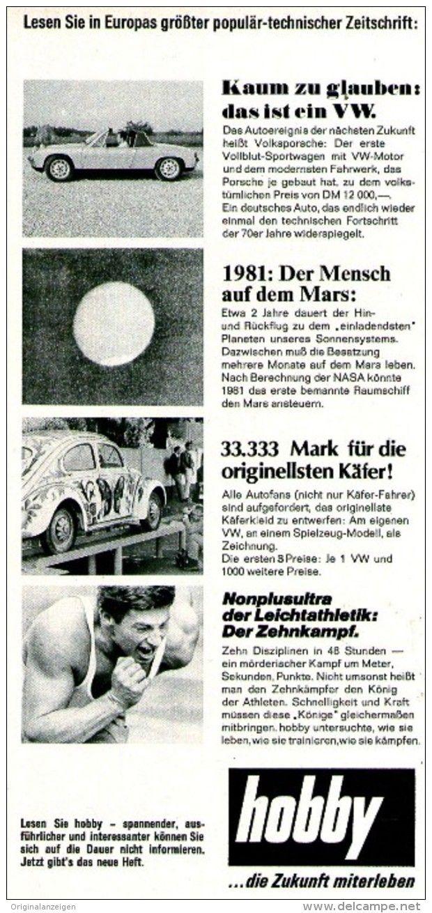 Original-Werbung/ Anzeige 1969 - ZEITSCHRIFT HOBBY / MOTIV VW KÄFER - ca. 115 x…