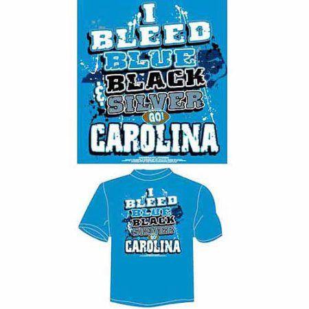 Carolina Football I Bleed Blue, Black and Silver, Go Carolina T-Shirt, Blue