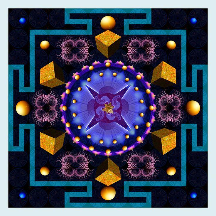 """Vivid """"Eagerness Mandala"""""""