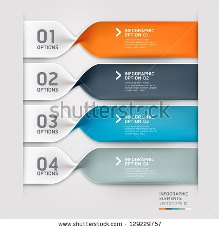 App UI / Modern spiral infographics options banner. Vector illustration. can be used for workflow...