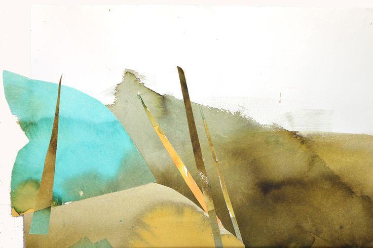 12, Martyna Bocheńska,pejzaż,kolaż, format 30 x 45 cm