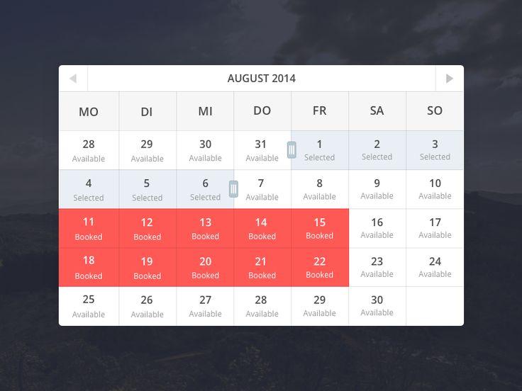 Calendar Widget by Kevin Kalde