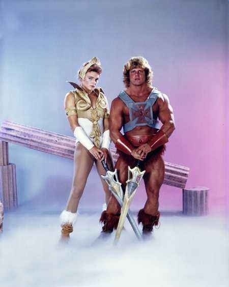 Vintage Teela and He-Man in the 80s. To those who are confused: Teela is He-Man's girlfriend, and She-Ra is the sister of He-Man. She-Ra's man is also a redhead, and his name is Sea Hawk.  There, consider your geekness up-to-date!