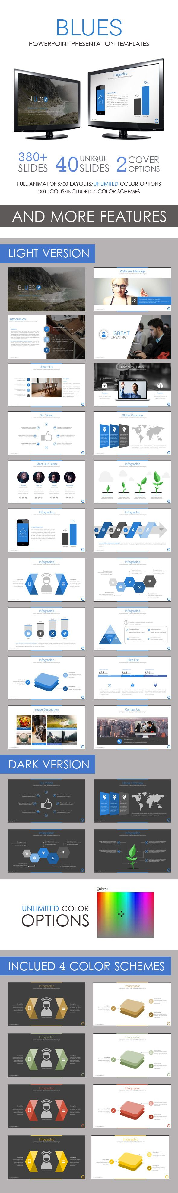 Blues PowerPoint Template - Business PowerPoint Templates