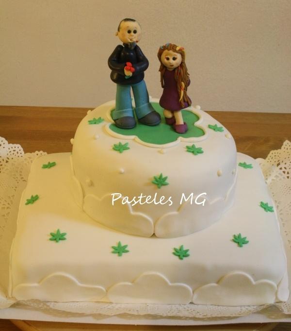 tarta para bodas de plata