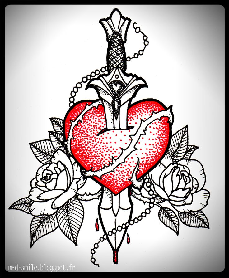 Heart & Dagger  http://mad-smile.blogspot.fr/search/label/TATTOO