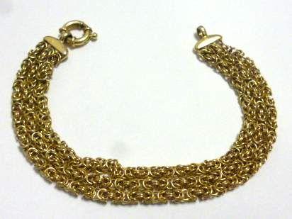 shopgoodwill.com: 10 Grams! 585 14K Gold Tested 3 Strand Bracelet