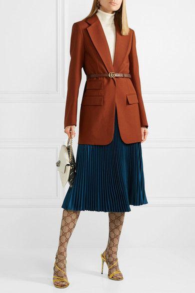 b8a2c19c9715e Gucci - Intarsia Tights - Brown in 2019 | Dream wardrobe | Tights ...
