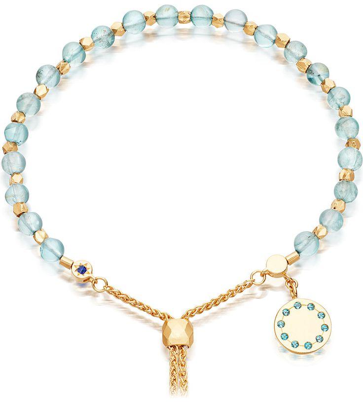 ASTLEY CLARKE Super Kula 18ct gold-plated apatite bracelet