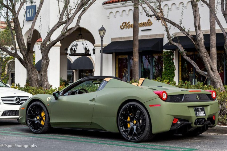 Olive Green Car