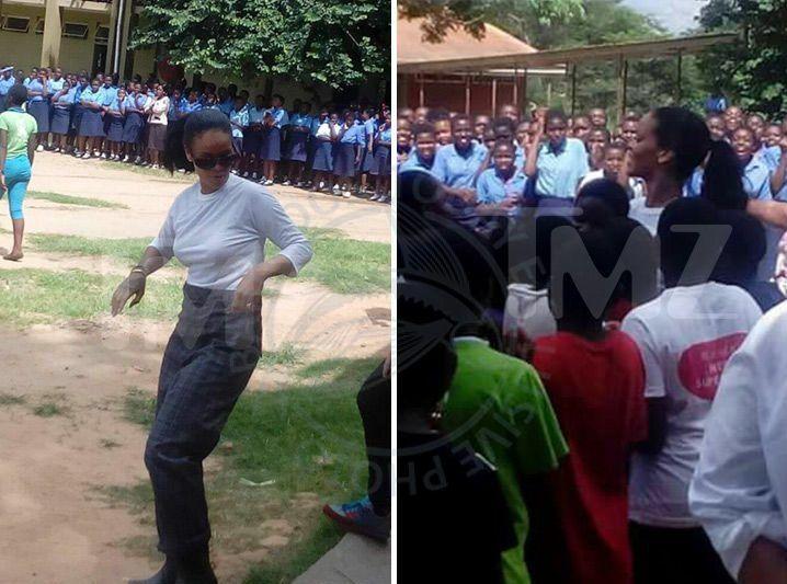 Rihanna visits Malawi school kids - https://www.barbadostoday.bb/2017/01/27/rihanna-visits-malawi-school-kids/