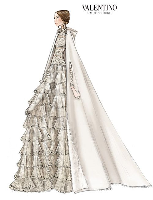 Tatiana Santo Domingo gets married in Valentino couture wedding gown - Sketch