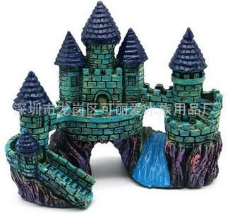 Hot Resin Castle One Size 220g Fish Tank and Aquarium Decoration Accessories Fish & Aquatic Pets Home Decor Aquarium Landscaping