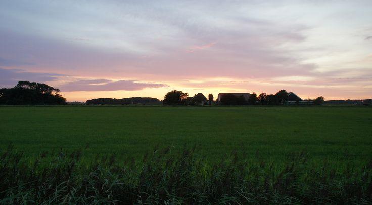 Mooie zonsondergang, gewoon achter het huis... Wie heeft het?