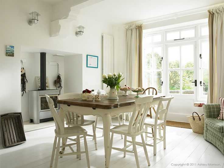 Kitchen table in Beth & Jason Cooper's three story period terrace in West Wittering, West Sussex.