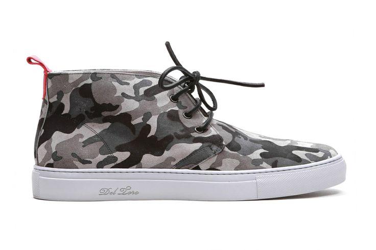 @Del Toro Grey Camo Suede Alto Chukka Sneaker