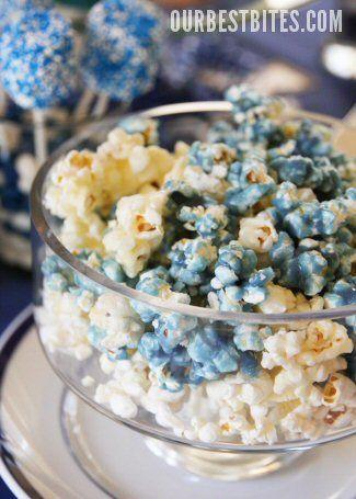 blue popcorn!