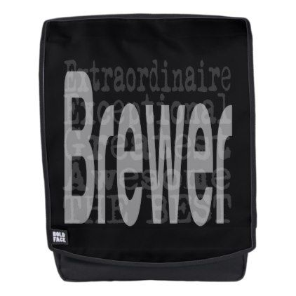 Brewer Extraordinaire Backpack - craft diy cyo cool idea