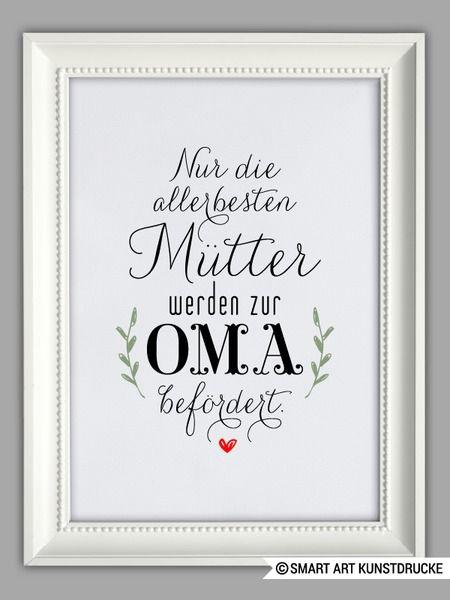 """""""MAMA und OMA"""" Kunstdruck, Muttertag Geschenk von Smart-Art Kunstdrucke auf DaWanda.com"""
