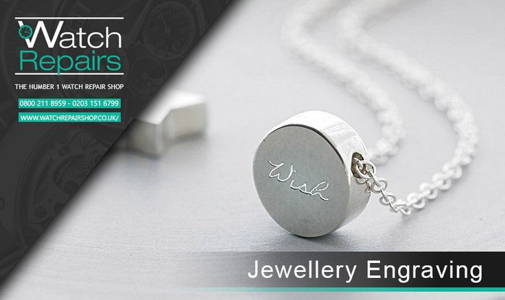 Jewellery Engraving  Make your jewels extra special by personalising them with an engraved message! here at Watch repair shop we offers Je...