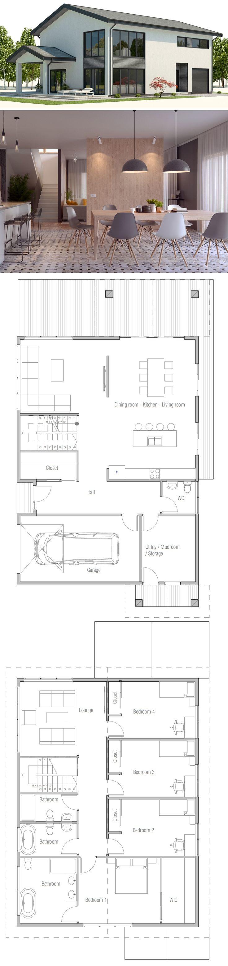 Exceptionnel Les 25 meilleures idées de la catégorie Plans de maison sur  IF84