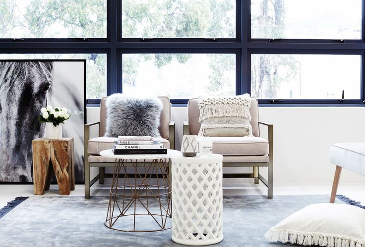 RUG -BO CONCEPT HORSE PAINTING - HAMPTONS AT HOME COFFEE TABLES - OZ DESIGN FURNITURE CHAIRS - WEST ELM