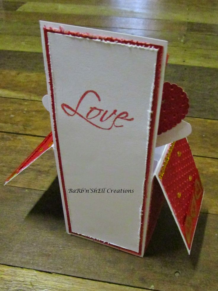 BaRb'n'ShEllcreations - Valentine Card in a Box - made by Shell