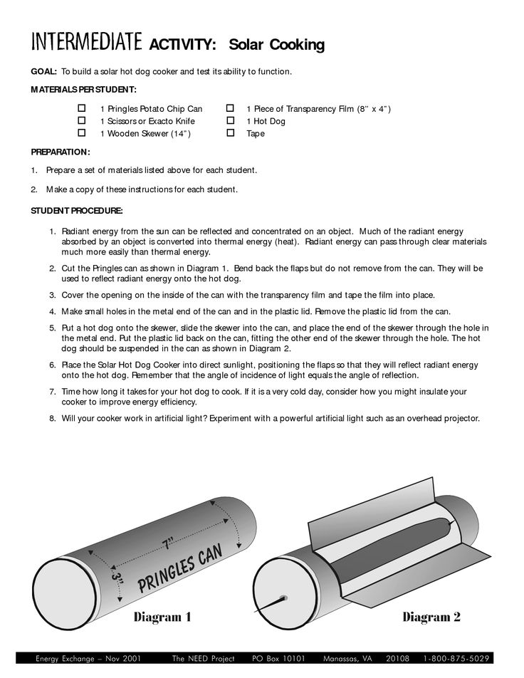 Pringles can solar hot dog cooker- webelos activity