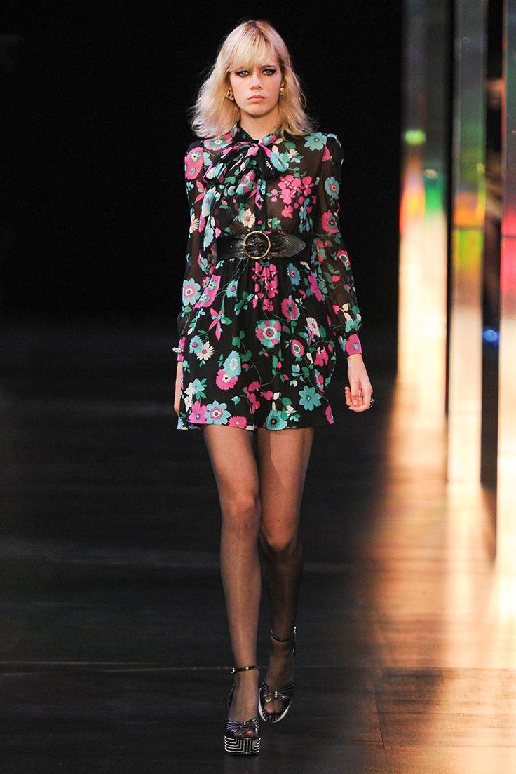 Saint Laurent Spring 2015 RTW Floral dress