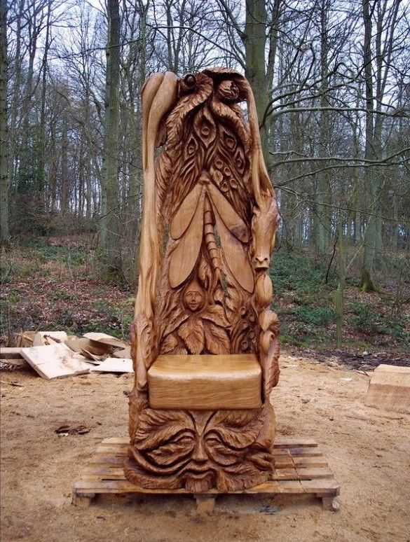 chain saw art | Fallen Trees Turned into Remarkable Chainsaw Sculptures [8 Pictures]