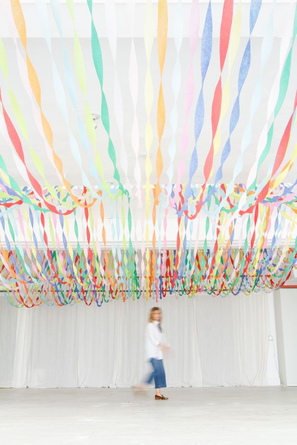 How To Make Paper Christmas Ceiling Decorations : Best crepe paper streamers ideas on