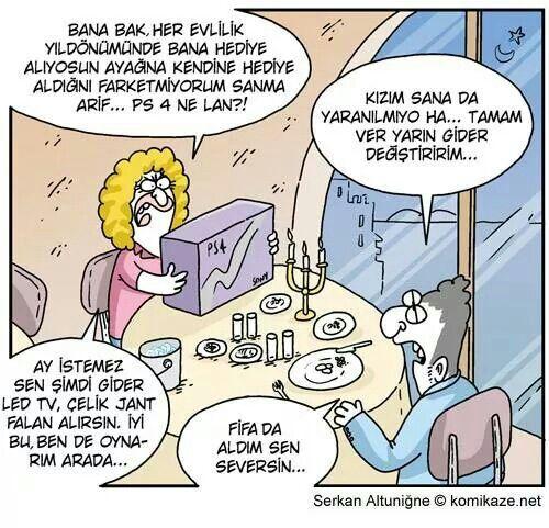 Karikatür ps 4 sevgili fifa